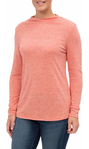 Lightweight Knitted Turtle Neck Top Orange