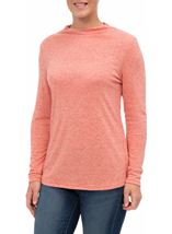 Lightweight Knitted Turtle Neck Top Orange - Gallery Image 1