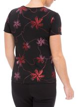 Anna Rose Short Sleeve Glitter Jersey Top Black/Pink - Gallery Image 3