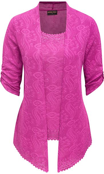 Anna Rose Sparkle Moc Top And Cover Up Pink