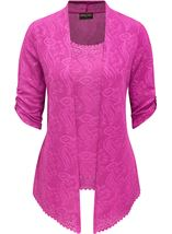 Anna Rose Sparkle Moc Top And Cover Up Pink - Gallery Image 1