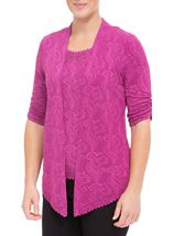 Anna Rose Sparkle Moc Top And Cover Up Pink - Gallery Image 2