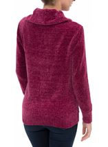 Cowl Neck Long Sleeve Chenille Top Pink - Gallery Image 3