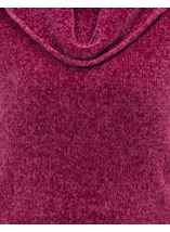 Cowl Neck Long Sleeve Chenille Top Pink - Gallery Image 4