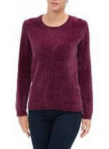 Long Sleeve Chenille Top Grape - Gallery Image 2