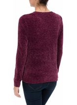 Long Sleeve Chenille Top Grape - Gallery Image 3