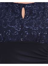 Sequin Lace Bodice Maxi Dress Midnight - Gallery Image 4