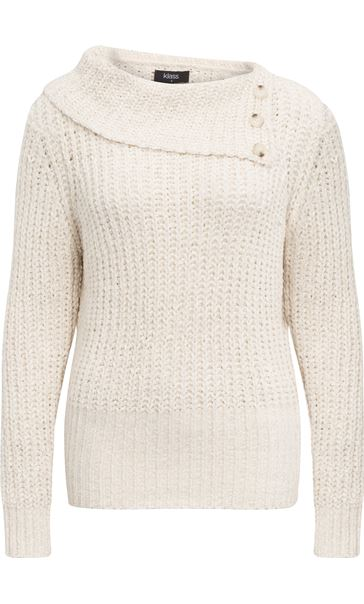 Long Sleeve Chenille Knit Top Buttermilk