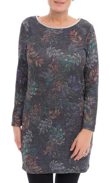 Floral Print Tunic Black/Multi