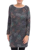 Floral Print Tunic Black/Multi - Gallery Image 1