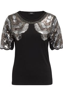 Embellished Short Sleeve Top