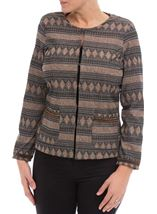Long Sleeve Stretch Jacket Black/Copper - Gallery Image 2