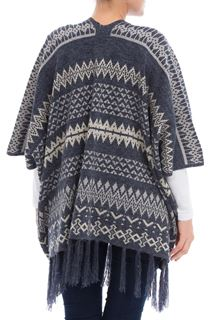 Tassel Knitted Cape