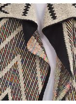 Open Front Cardigan Black/Ecru/Multi - Gallery Image 4