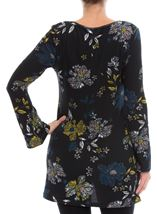 Floral Jersey Tunic Black/Peacock/Pistachio - Gallery Image 3