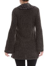 Cowl Neck Knitted Tunic Grey Marl - Gallery Image 3