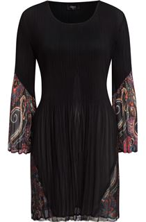 Pleated Dress With Paisley