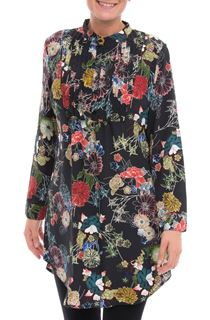 Long Sleeve Floral Print Tunic