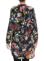 Long Sleeve Floral Print Tunic Black - Gallery Image 3