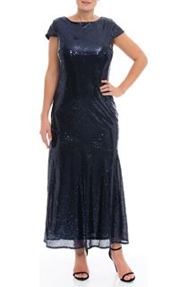 Cowl Back Sequin Maxi Dress