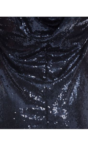 Cowl Back Sequin Maxi Dress Midnight - Gallery Image 4
