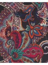 Paisley Printed Tunic Black/Red/Purple - Gallery Image 4