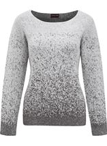 Anna Rose Long Sleeve Sparkle Knit Top Grey/Silver - Gallery Image 1