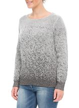 Anna Rose Long Sleeve Sparkle Knit Top Grey/Silver - Gallery Image 2