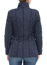 Anna Rose Asymmetric Zip Coat Navy - Gallery Image 3