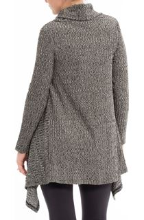 Cowl Neck Loose Knit Tunic