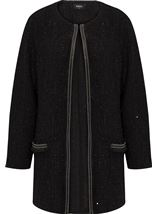 Shimmer Long Sleeve Jacket Black - Gallery Image 1