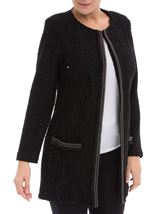 Shimmer Long Sleeve Jacket Black - Gallery Image 2