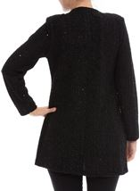 Shimmer Long Sleeve Jacket Black - Gallery Image 3