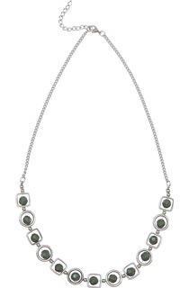 Multi Shape Necklace - Pesto