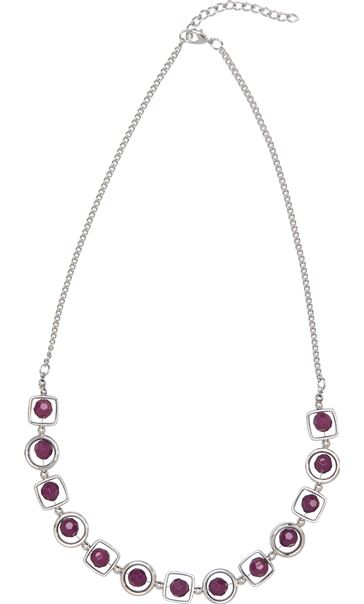 Multi Shape Necklace Cerise