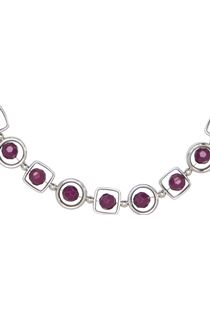 Multi Shape Necklace - Cerise