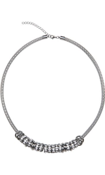 Chunky Ring Necklace Silver