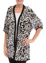 Printed Knit Open Cover Up Browns - Gallery Image 1