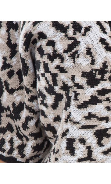 Printed Knit Open Cover Up Browns - Gallery Image 4