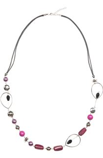 Mixed Bead Necklace - Grape