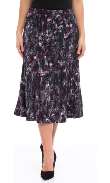 Anna Rose Pull On Fit And Flare Midi Skirt