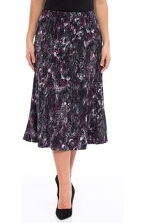 Anna Rose Pull On Fit And Flare Midi Skirt - Purple