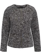 Anna Rose Long Sleeve Zip Jacket Black/Multi - Gallery Image 1