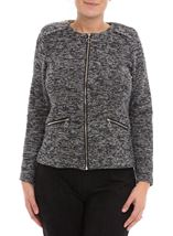 Anna Rose Long Sleeve Zip Jacket Black/Multi - Gallery Image 2