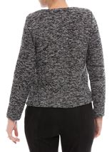 Anna Rose Long Sleeve Zip Jacket Black/Multi - Gallery Image 3