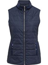 Anna Rose Sequin Trimmed Gilet Navy - Gallery Image 1