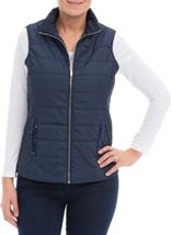 Anna Rose Sequin Trimmed Gilet Navy - Gallery Image 2