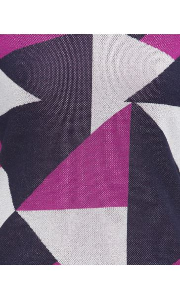 Anna Rose Knit Top Navy/Magenta - Gallery Image 3