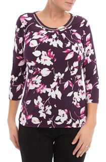 Anna Rose Floral Print Top
