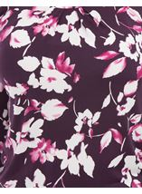 Anna Rose Floral Print Top Plum/Magenta - Gallery Image 3